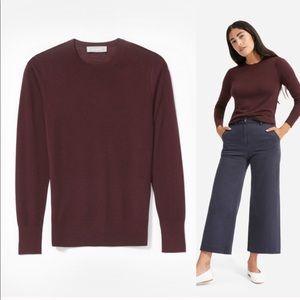 Everlane Luxe Wool Sweater in Wine